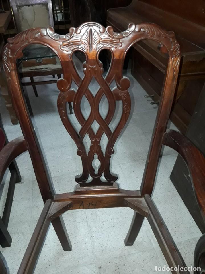 Antigüedades: sillón estilo chipendal - Foto 2 - 213232745