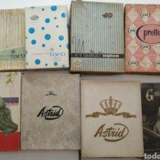 Antiquités: LOTE DE CAJAS D MEDIAS ANTIGUAS. VARIOS MODELOS Y TALLAS. Lote 213244817