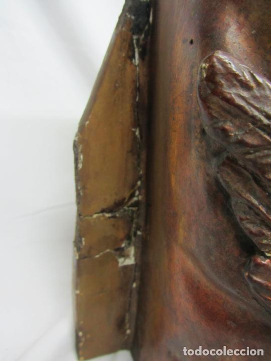 Antigüedades: Mensula o peana modernista en estuco dorado al oro viejo - Foto 6 - 213248607