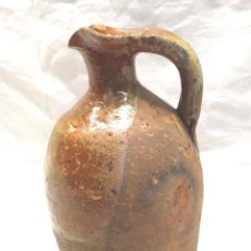Antigüedades: VASIJA JARRA ACEITE MIRAVET TERUEL S XIX, TERRACOTA BARRO. MED. 19 CM. Lote 213268830