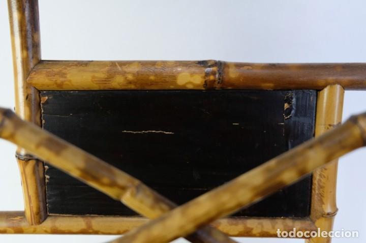 Antigüedades: Mueble revistero japonés en bambú y laca principios siglo XX - Foto 7 - 238250545