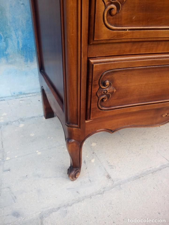Antigüedades: Antigua comoda camisero de madera de roble.estilo isabelino años 40, 7 cajones - Foto 8 - 213282351