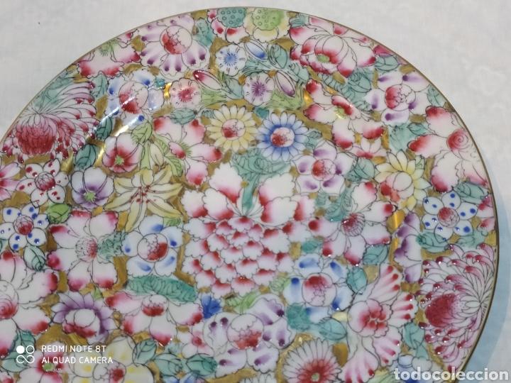 Antigüedades: Precioso plato chino Macau - Foto 3 - 213286548