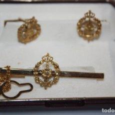 Antigüedades: GEMELOS Y PASA CORBATA DE INGENIERA ?. Lote 213302675