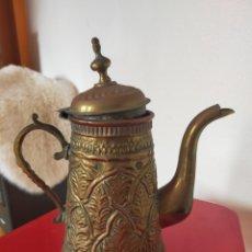 Antigüedades: TETERA ÁRABE LATÓN. Lote 213305531