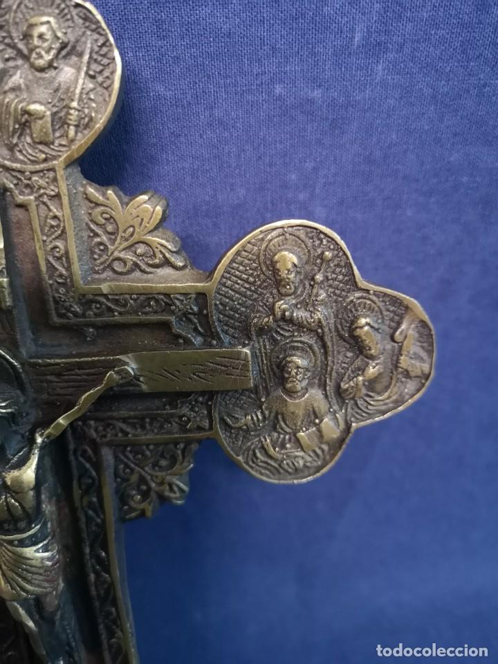 Antigüedades: CRUZ ORTODOXA RUSA BRONCE - Foto 5 - 213333386
