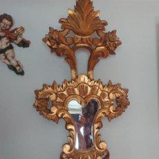 Antigüedades: ESPEJO CORNUCOPIA MADERA TALLADA SIGLO XIX GRANDE. Lote 213353077