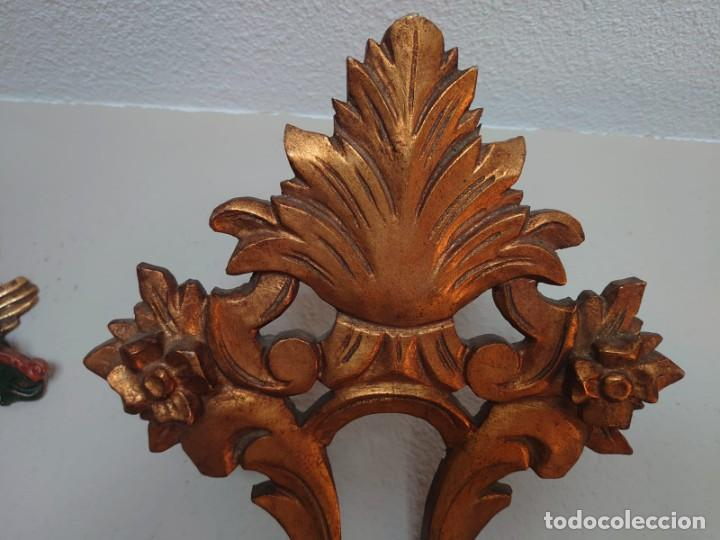 Antigüedades: ESPEJO CORNUCOPIA MADERA TALLADA SIGLO XIX GRANDE - Foto 2 - 213353077