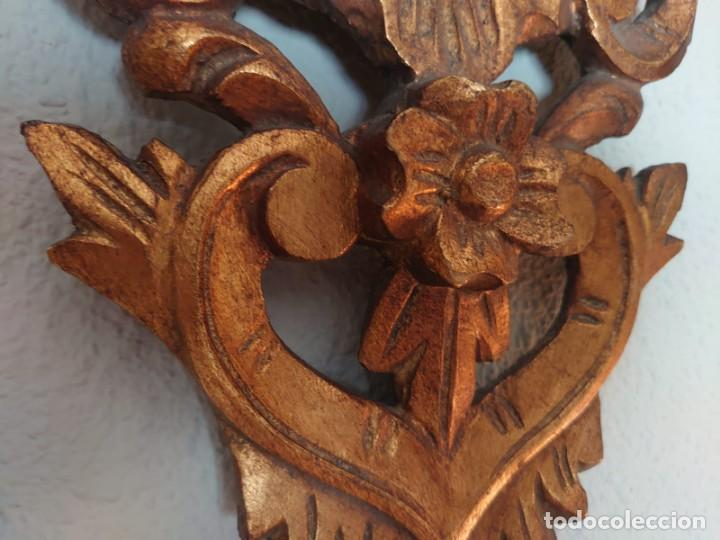 Antigüedades: ESPEJO CORNUCOPIA MADERA TALLADA SIGLO XIX GRANDE - Foto 3 - 213353077