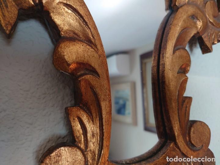 Antigüedades: ESPEJO CORNUCOPIA MADERA TALLADA SIGLO XIX GRANDE - Foto 4 - 213353077