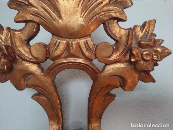 Antigüedades: ESPEJO CORNUCOPIA MADERA TALLADA SIGLO XIX GRANDE - Foto 5 - 213353077