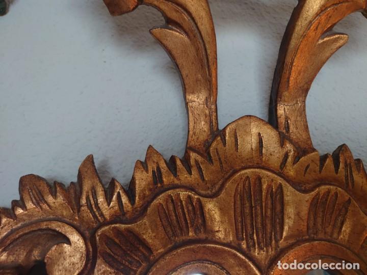 Antigüedades: ESPEJO CORNUCOPIA MADERA TALLADA SIGLO XIX GRANDE - Foto 8 - 213353077
