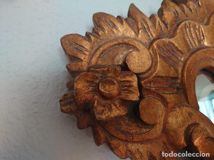 Antigüedades: ESPEJO CORNUCOPIA MADERA TALLADA SIGLO XIX GRANDE - Foto 9 - 213353077
