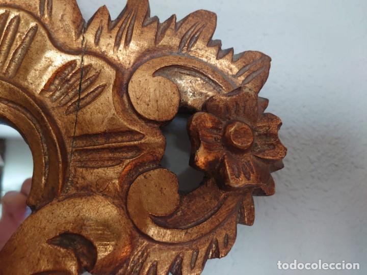 Antigüedades: ESPEJO CORNUCOPIA MADERA TALLADA SIGLO XIX GRANDE - Foto 11 - 213353077