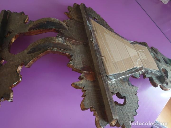 Antigüedades: ESPEJO CORNUCOPIA MADERA TALLADA SIGLO XIX GRANDE - Foto 14 - 213353077