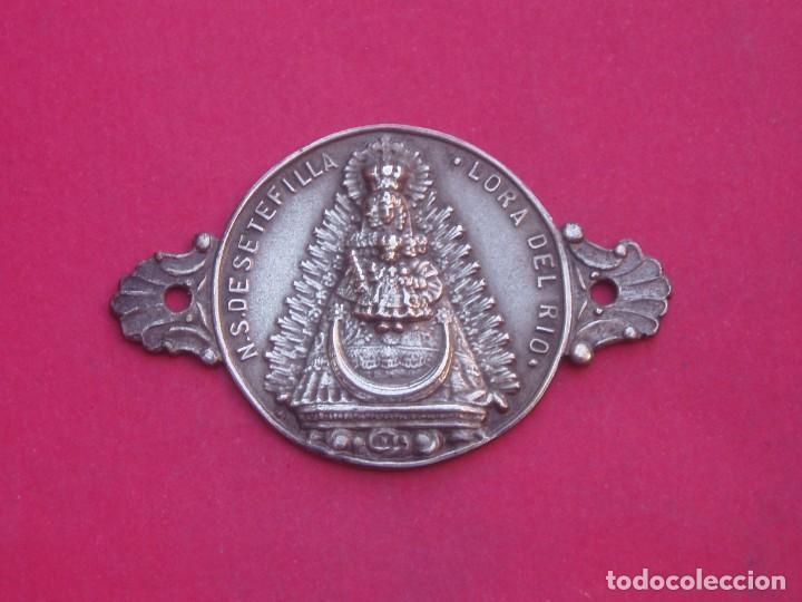 PLACA MEDALLA ANTIGUA VIRGEN DE SETEFILLA (LORA DEL RÍO-SEVILLA) (Antigüedades - Religiosas - Medallas Antiguas)