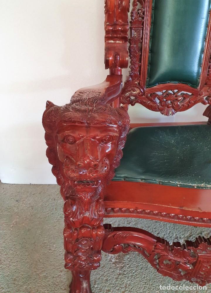 Antigüedades: GRAN SILLÓN TRONO - Foto 3 - 213374496