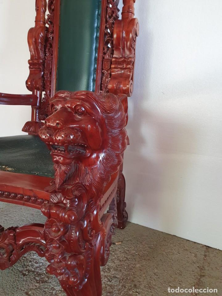 Antigüedades: GRAN SILLÓN TRONO - Foto 4 - 213374496