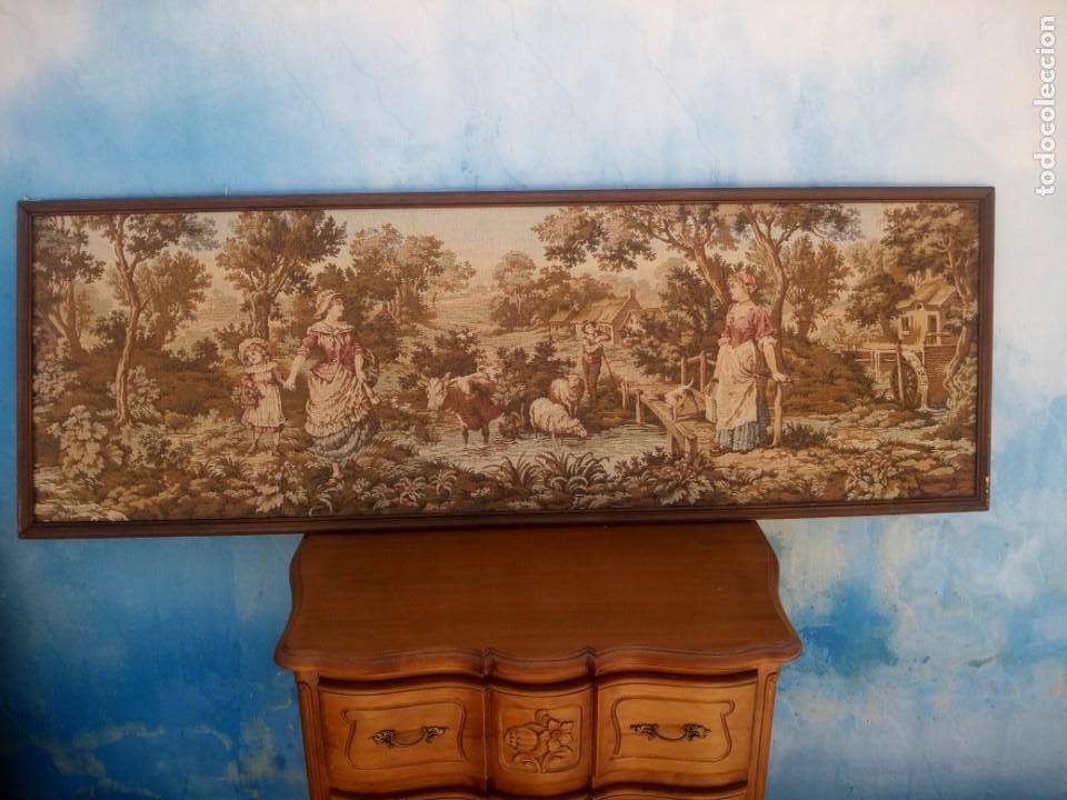 Antigüedades: Precioso tapiz pastores con su ganado - Foto 2 - 213423625