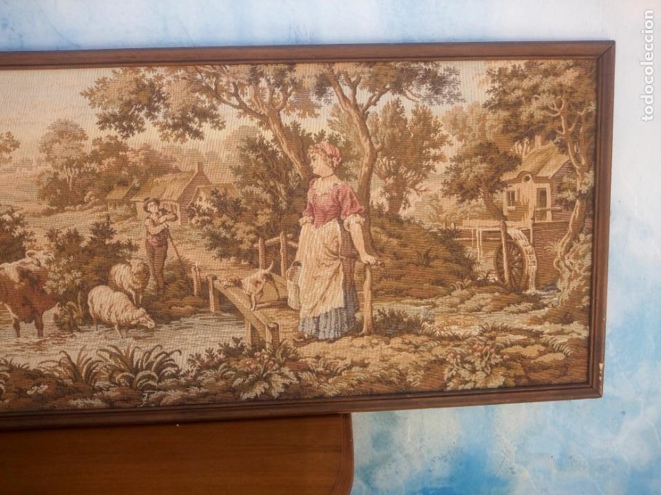 Antigüedades: Precioso tapiz pastores con su ganado - Foto 3 - 213423625