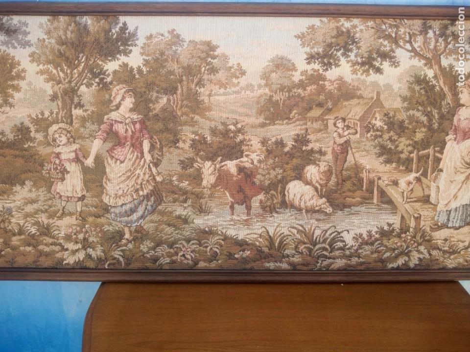 Antigüedades: Precioso tapiz pastores con su ganado - Foto 4 - 213423625