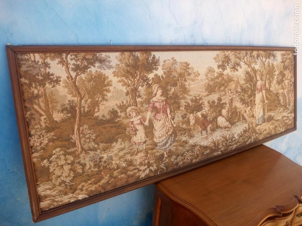 Antigüedades: Precioso tapiz pastores con su ganado - Foto 6 - 213423625