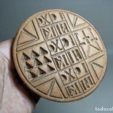 Antigüedades: SELLO PAN ACIMO PROSFORON ..LITURGIA HEBREA ORTODOXA--MEDIADOS SIGLO XX. Lote 213426826