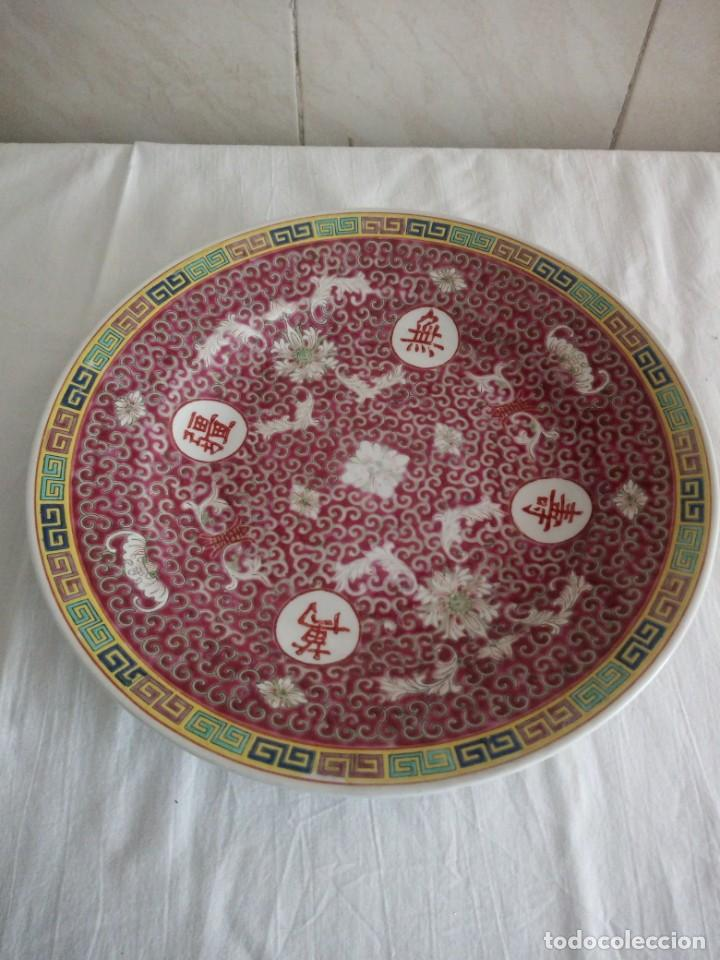 ANTIGUO Y PRECIOSO PLATO DE PORCELANA JAPONESA. (Antigüedades - Porcelana y Cerámica - Japón)