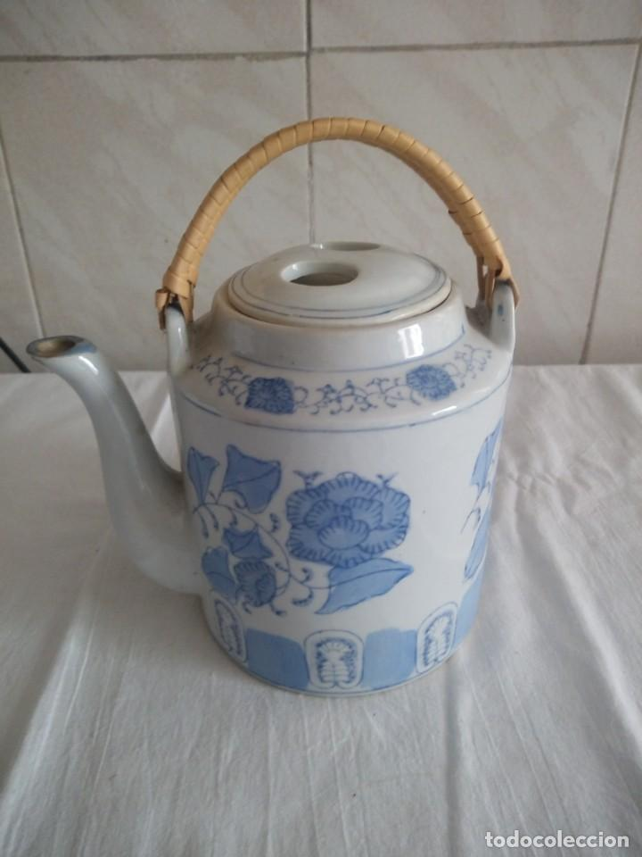 ORIGINAL TETERA DE PORCELANA CHINA. (Antigüedades - Porcelanas y Cerámicas - China)