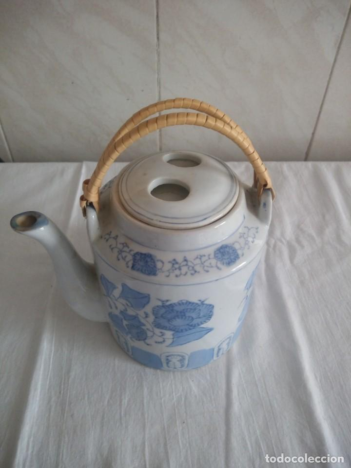 Antigüedades: Original tetera de porcelana china. - Foto 2 - 213435796