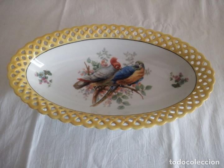 Antigüedades: Antigua fuenta calada de porcelana bavaria schumann 1918 - 1929 - Foto 2 - 213436466
