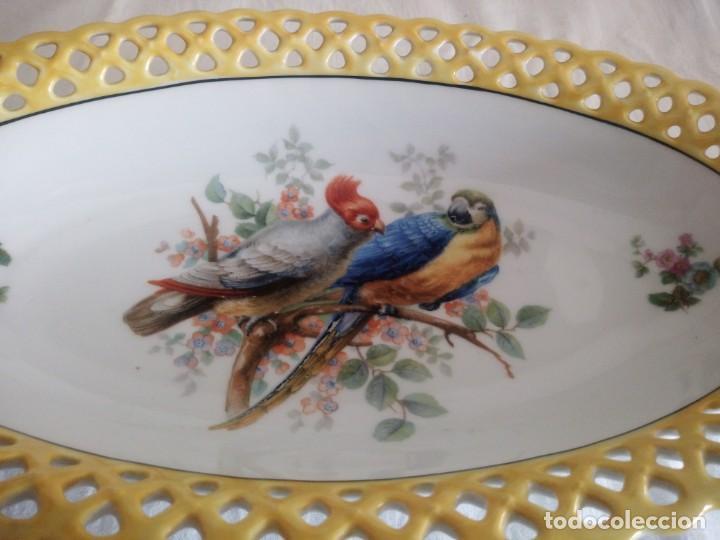 Antigüedades: Antigua fuenta calada de porcelana bavaria schumann 1918 - 1929 - Foto 3 - 213436466