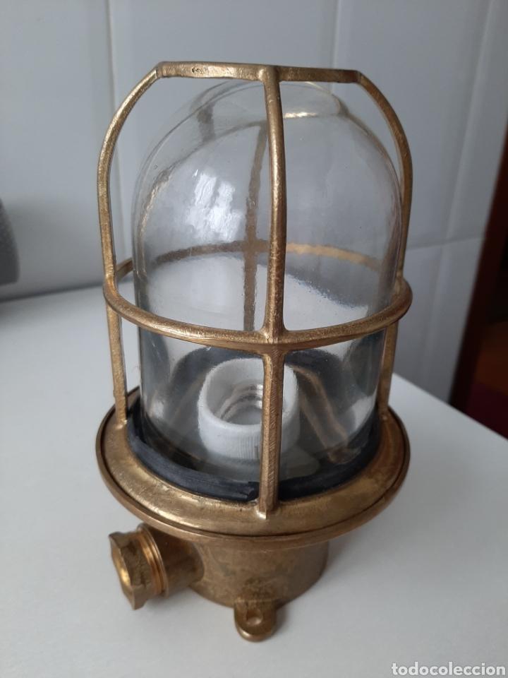 Antigüedades: Lampara de laton barco o porche - Foto 2 - 213443775