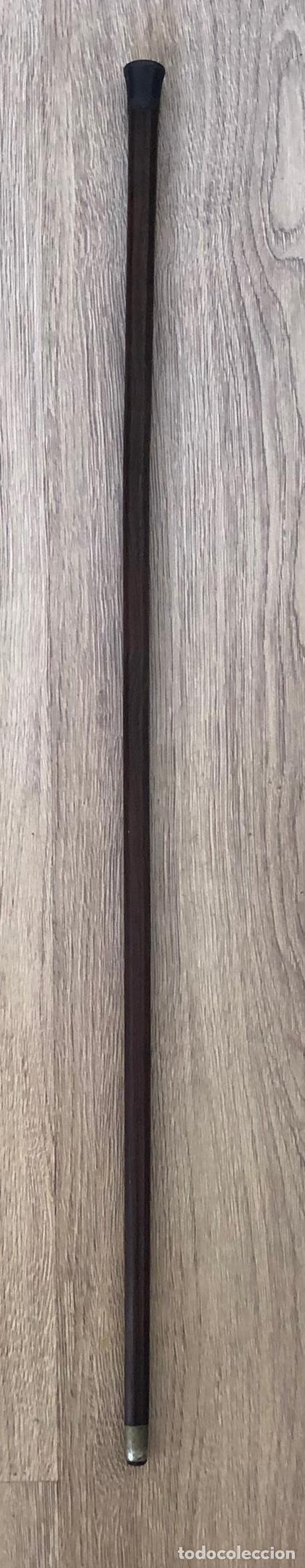 Antigüedades: Antigua Baston, con empuñadura en hierro, y vara de madera noble. Pps. S.XX. - Foto 3 - 213470000