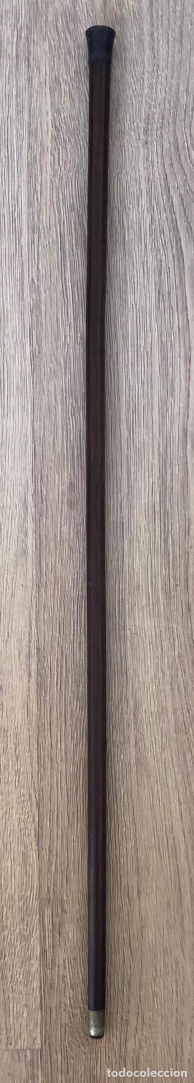 Antigüedades: Antigua Baston, con empuñadura en hierro, y vara de madera noble. Pps. S.XX. - Foto 4 - 213470000