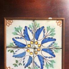 Antigüedades: PLAFÓ 4 RAJOLES DE MOSTRA BARCELONA S. XIX. Lote 213490033