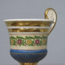 Antigüedades: ANTIGUA TAZA IMPERIO DE PORCELANA. SIGLO XIX. Lote 213498890