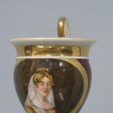 Antigüedades: ANTIGUA TAZA IMPERIO DE PORCELANA. SIGLO XIX. Lote 213499032