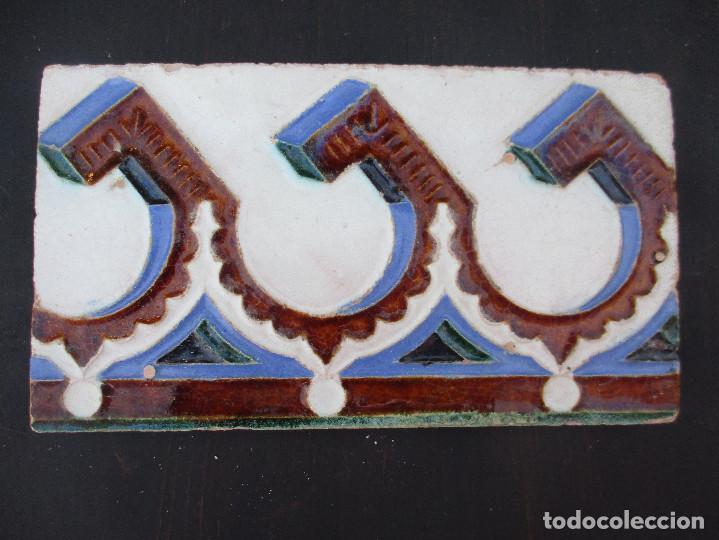 AZULEJO MUY ANTIGUO (Antigüedades - Porcelanas y Cerámicas - Azulejos)