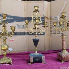 Antigüedades: CANDELABROS ANTUGUOS. Lote 213544415