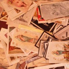 Antigüedades: 180 ESTAMPAS RELIGIOSAS, VARIAS EPOCAS, RECUERDOS COMUNION,RECORDATORIOS,SANTOS Y PATRONAS..... Lote 213574043
