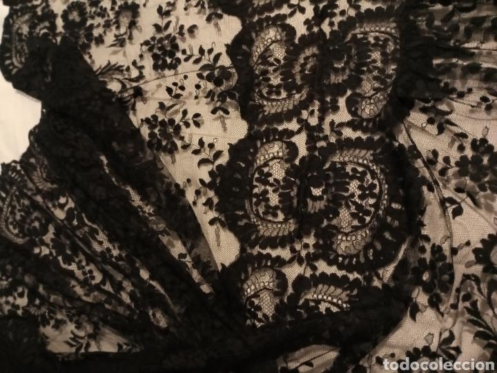 Antigüedades: Mantilla centro de mesa negra muy grande - Foto 4 - 213574705