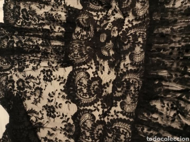 Antigüedades: Mantilla centro de mesa negra muy grande - Foto 5 - 213574705