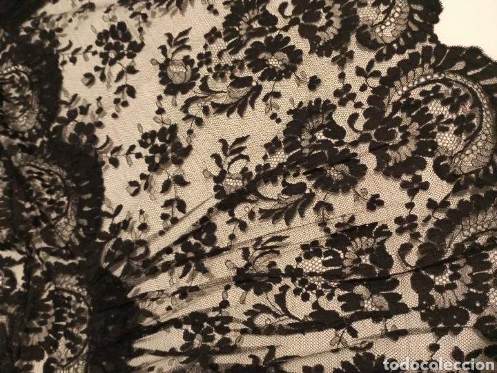 Antigüedades: Mantilla centro de mesa negra muy grande - Foto 7 - 213574705