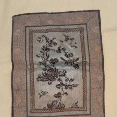 Antigüedades: BORDADO SEDA CHINA SIGLO XIX FECHADO 36*28 CHINESE SILK. Lote 213576227
