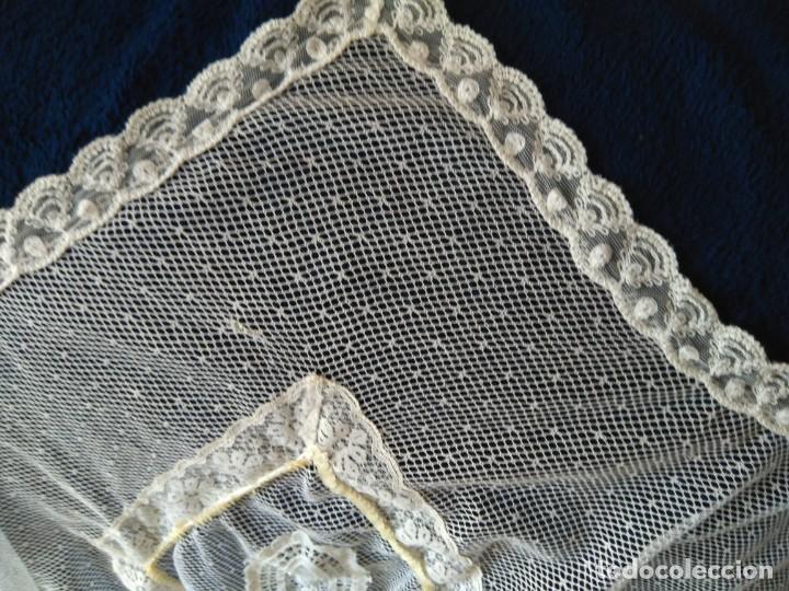 Antigüedades: falda de encaje mecánico y lentejuelas, de baile? mide de largo 50-60 y vuelo unos 300 cm - Foto 7 - 213579746