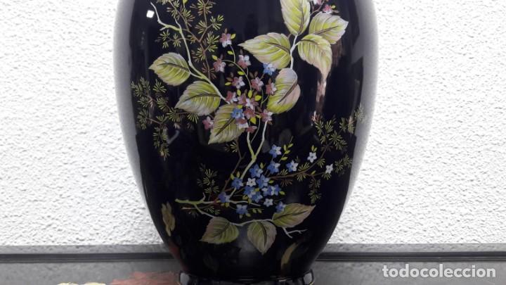Antigüedades: Gran búcaro tibor en porcelana decorados flores medida de alto 41 cm buen estado - Foto 3 - 213598170