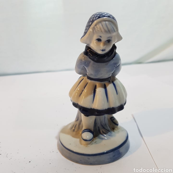 FIGURA DE PORCELANA DELTF HOLANDA (Antigüedades - Porcelana y Cerámica - Holandesa - Delft)