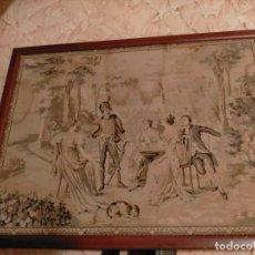 Antigüedades: ANTIGUO TAPIZ. NO TENEMOS INFORMACIÓN. Lote 213605118
