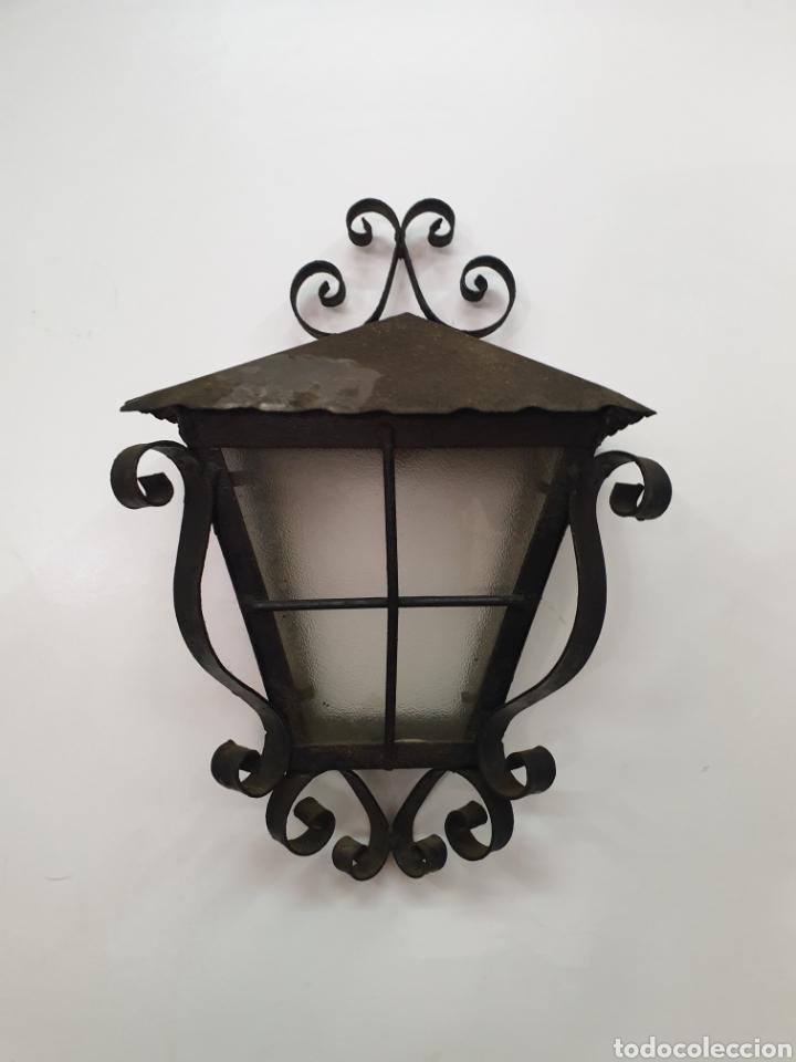 APLIQUE DE HIERRO FORJADO (Antigüedades - Iluminación - Apliques Antiguos)